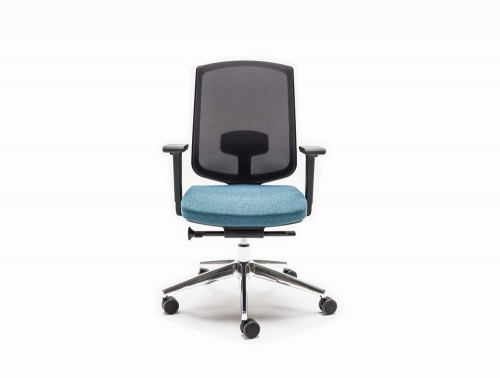 Sava Ergonomic Mesh Chair with Chrome Legs and Castor Wheels