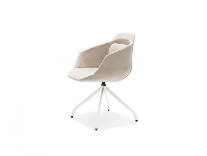 Ultra FW White with Red Upholstered Finish and Wooden Base