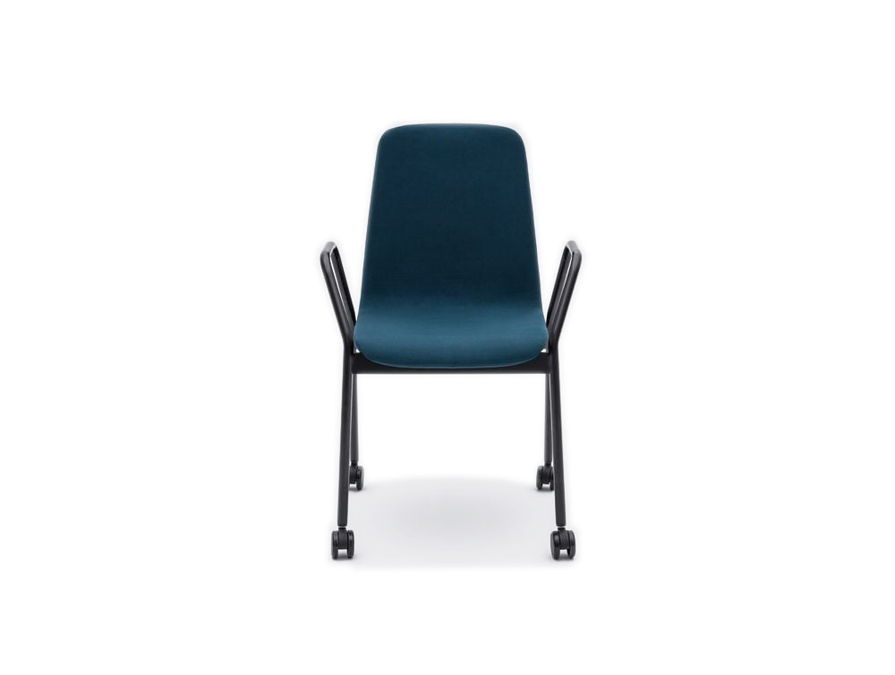 Ultra K Chair with Black Metal Arms and Castor Wheels