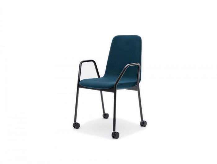 Ultra K Chair with Purple Metal Base and Blue Finish