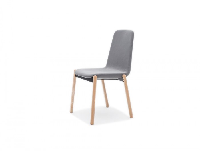 Ultra KW Chair with Upholstered Finish and 4 Star Wooden Base