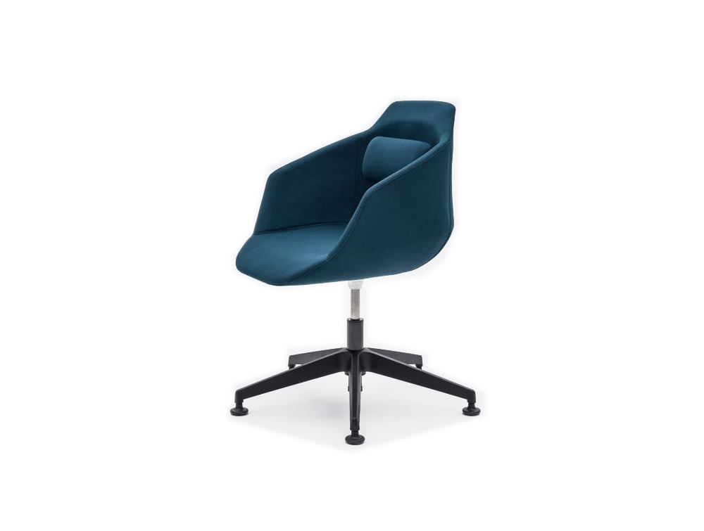 Ultra F Chair with 5 Stars Metal Base with Blue Finish