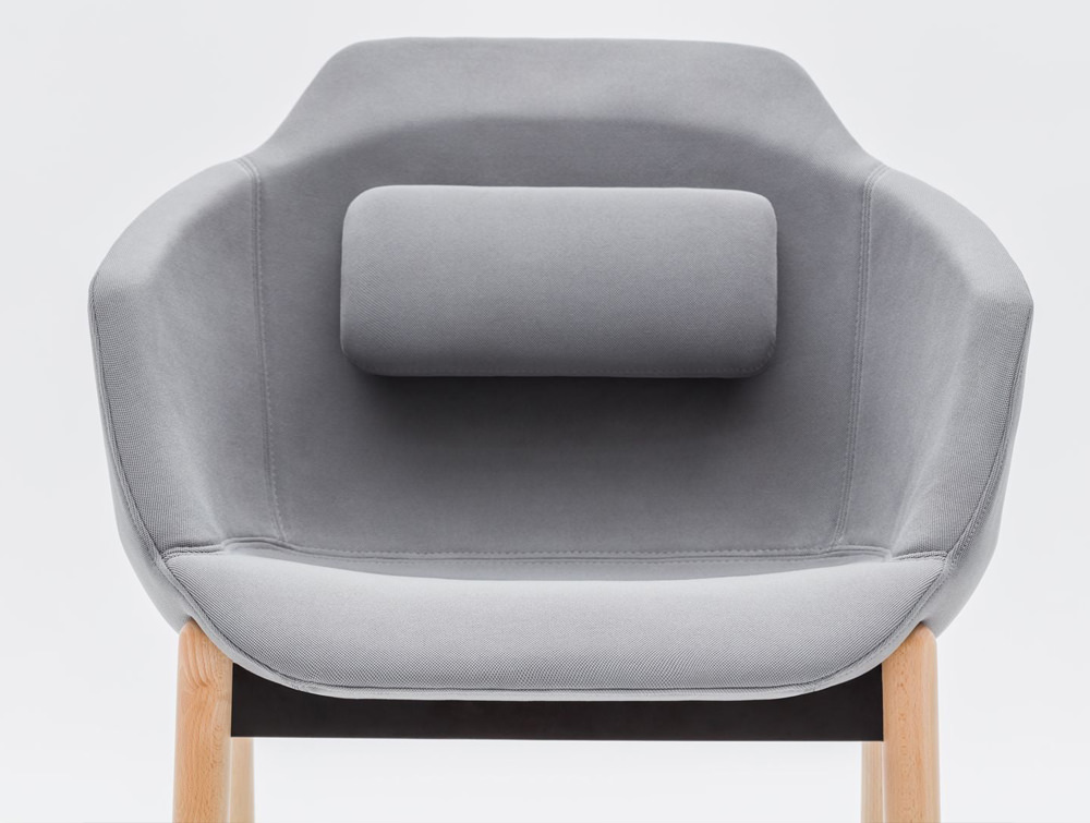 Ultra FW Armchair with Back Cushion and Wooden Legs