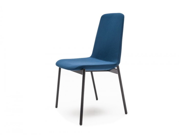 Ultra K Chair with Black Legs and Blue Finish