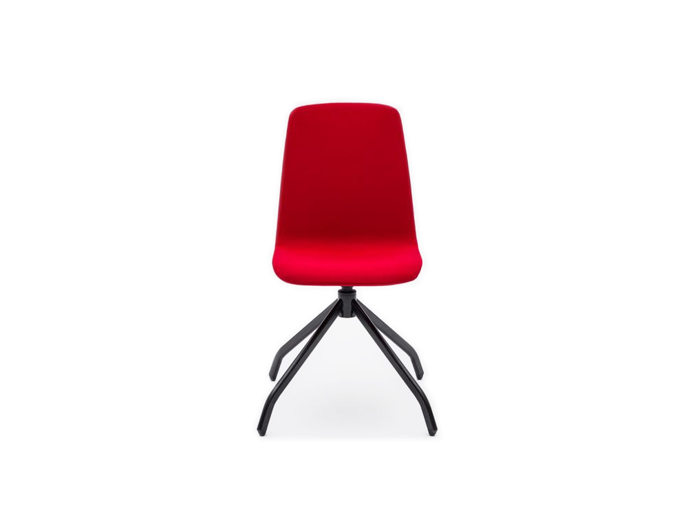 Ultra K Chair with Red Finish and Black Legs