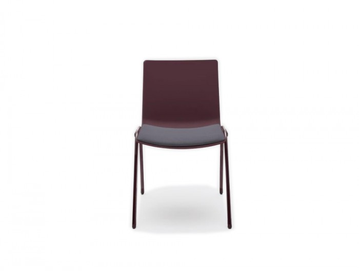 Shila A Frame Conference Chair with Purple Finish and Grey Cushion