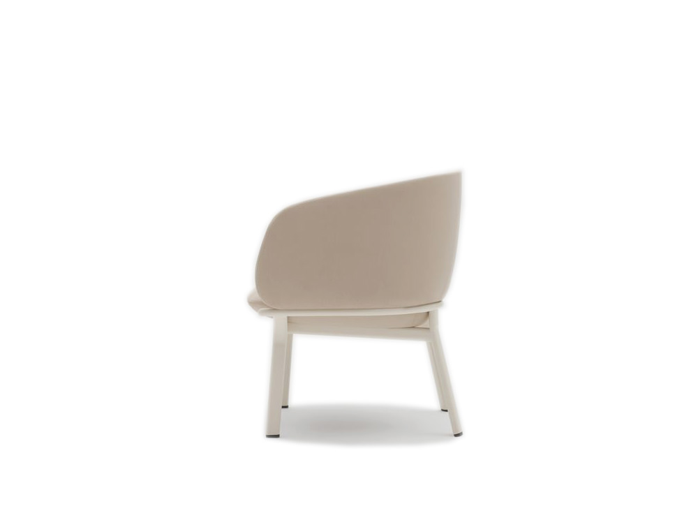 Grace Armchair on 4 Legged Base with White Finish and White Frame