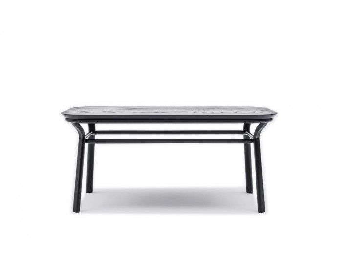 Grace Rectangular Table with Elegant Black Wooden Legs