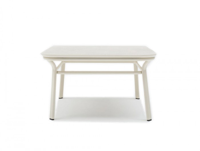 Grace Square Table with Simple White Frame for Meeting Rooms