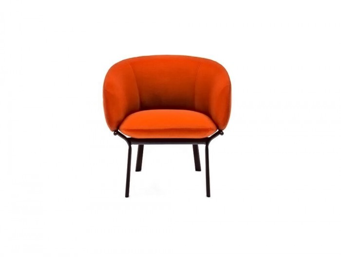 Mdd Grace 4 Legged Armchair in Cherry Red