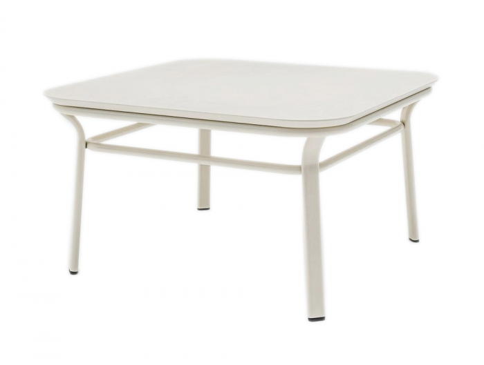 Grace Square Table with Elegant White Frame for Breakout rooms