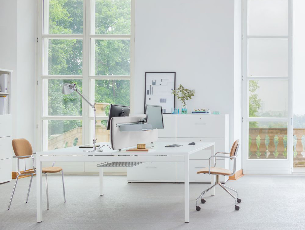 MDD New School 4 Legged Frame Chair in Wooden Finish for Open Offices