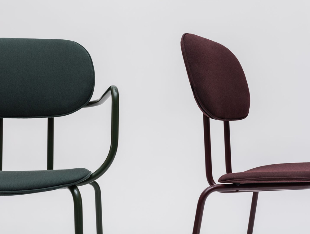 MDD New School 4 Legged Frame Chair with Customisable Finish