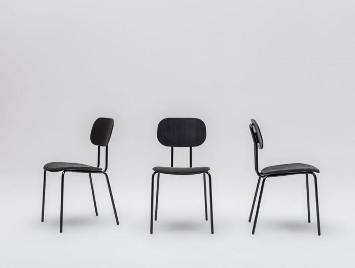 MDD New School 4 Legged Frame Chair with Dark Wooden Finish