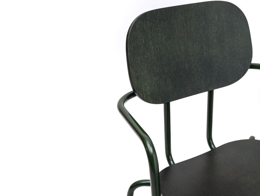 MDD New School Chair in Black Upholstery FInish