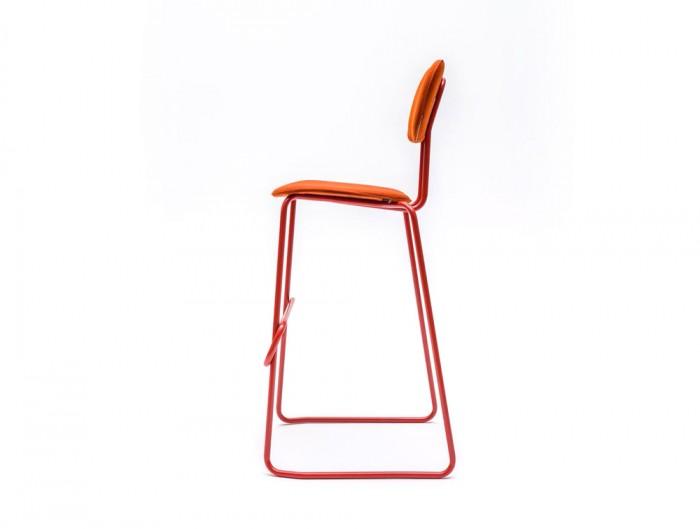 MDD New School High Sled Chair in Orange Finish