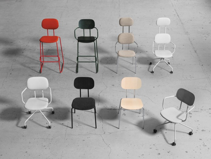 MDD New School Modular Seating Range with Castor Wheels and Metal Frame