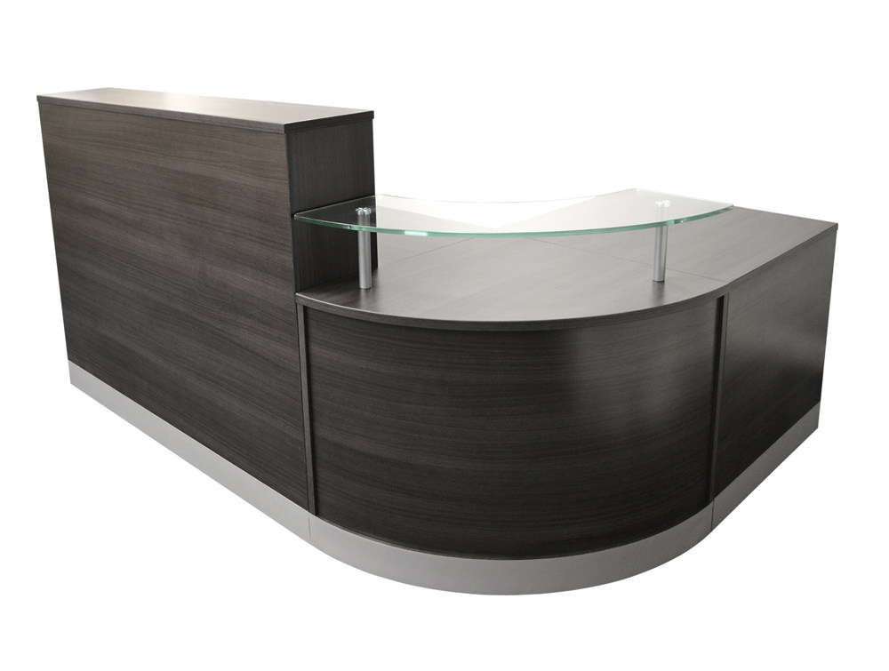 Elite Curved Corner Reception Unit - Anthracite