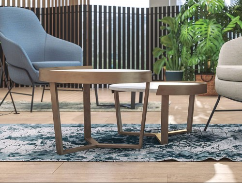 Margin Coffee Table Wooden Frame for Breakout Rooms