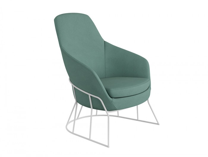 Drive Soft Seating Office Chairs with Light Green Upholstered Finish and Circular Metal Frame
