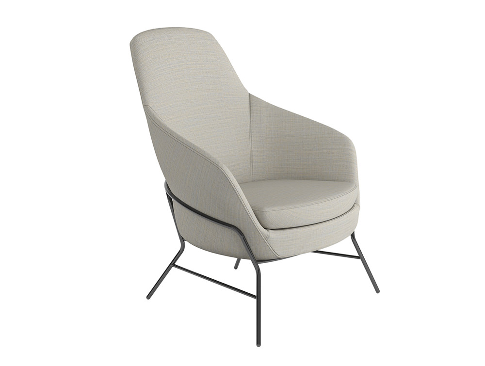 Drive Soft Seating Office Medium Back Chairs with White Upholstered Finish and Four Metal Legs