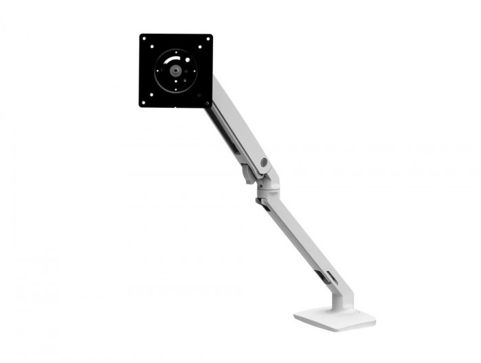 Ergotron MXV Desk Monitor Arm in White with Two Piece Clamp for TV and LCD Screens