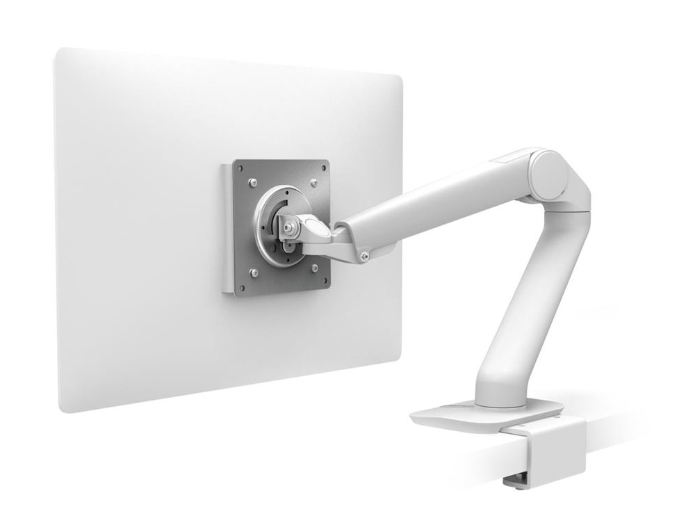 Ergotron MX Mini Desk Light Monitor or Tablet Mount in White with Under Mount C-Clamp for Computer Screens