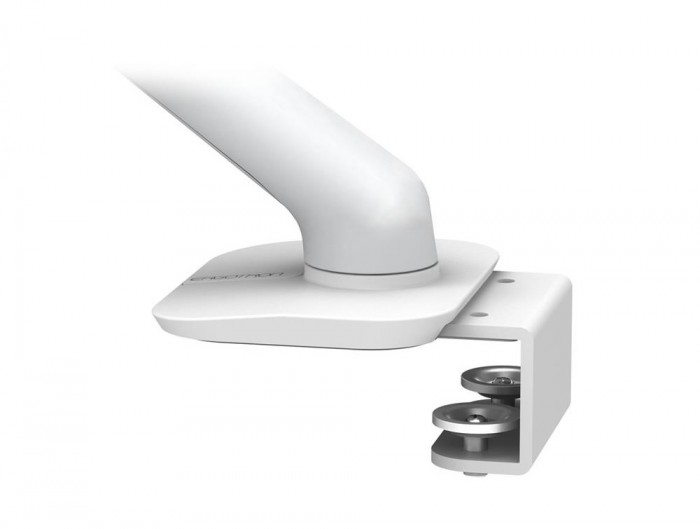 Ergotron MX Mini Desk Light Monitor or Tablet Mount in White with Under Mount C-Clamp for LCD and TV Screens