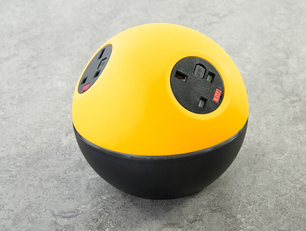OE Planet On Surface Power Module with Light Yellow and Black Finish and UK Power Outlets