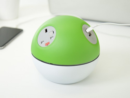 OE Planet On Surface Power Module with Lime Green Finish and UK Power Outlets