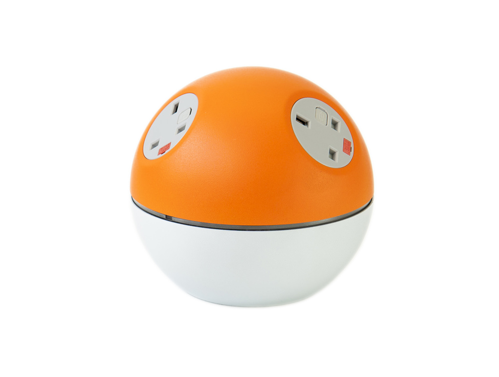 OE Planet On Surface Power Module with Orange Finish and UK Power Outlets