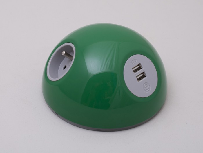 OE Pluto On Surface Power Module with Green Finish and EU Power Outlet