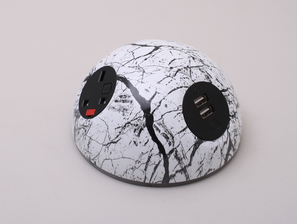 OE Pluto On Surface Power Module with Marble Effect and USB Port