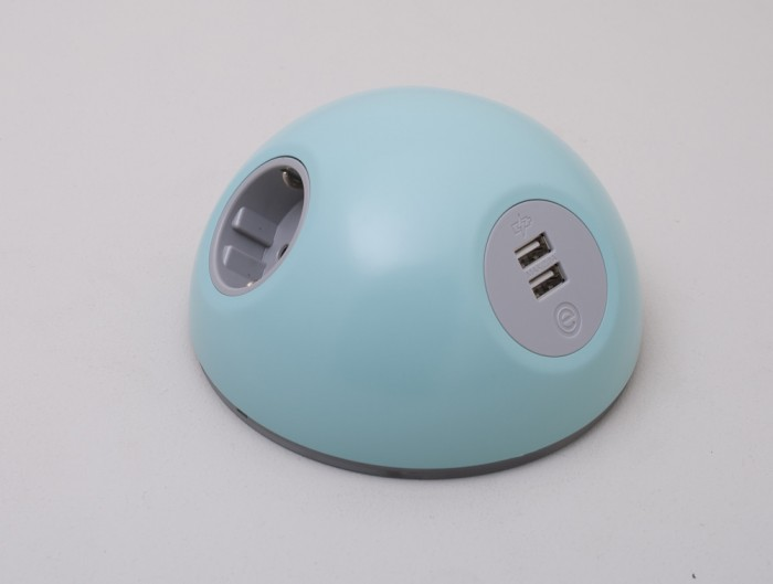OE Pluto On Surface Power Module with Turquoise Finish and USB Port
