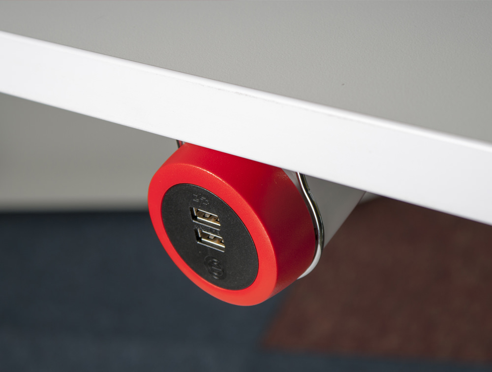 OE Pendulum On Surface Power Module with Dual USB Ports and Under Desk Mount System