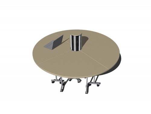 OE Pisa Freestanding Power Module with Meeting Table