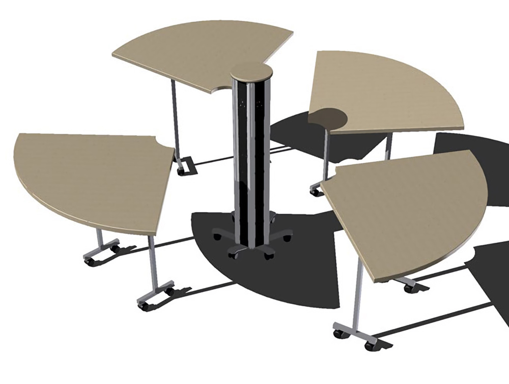 OE Pisa Freestanding Power Module with Modular Table