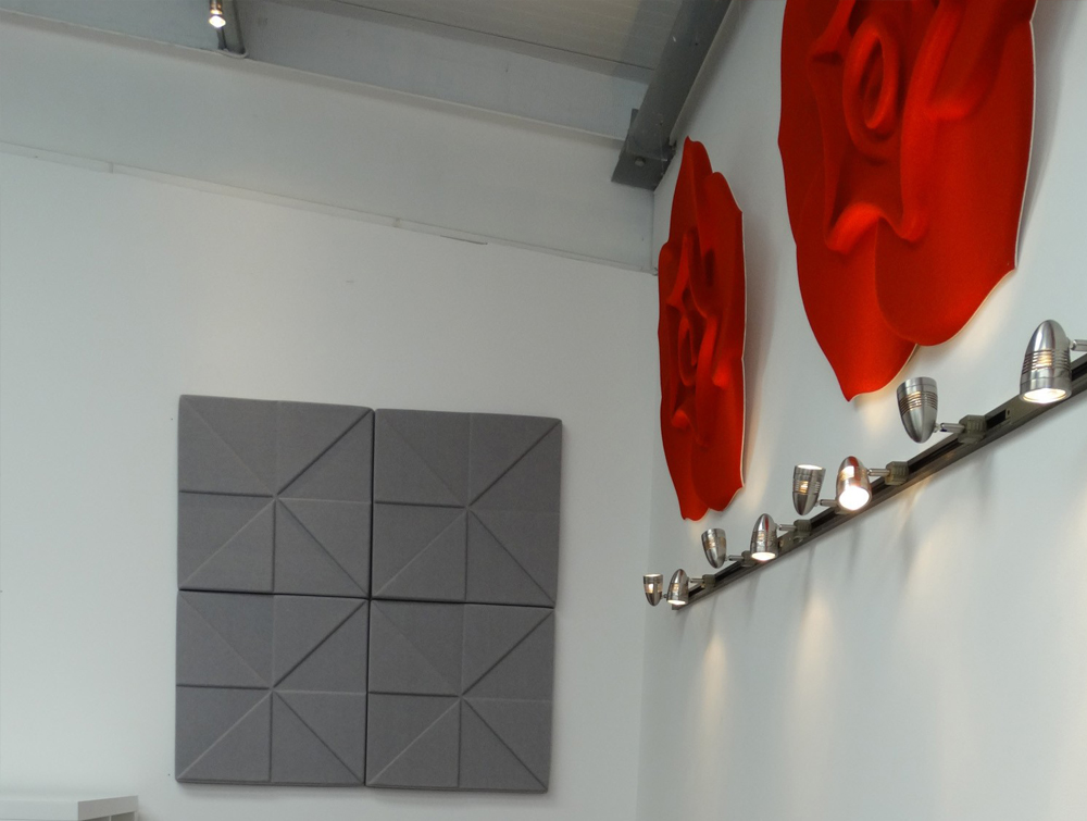 Soundtect Acoustic Panel Celeste in Cherry Red for Kitchens
