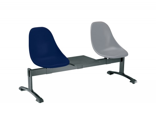 Gaber Harmony Beam Seating with Blue and Grey Finish