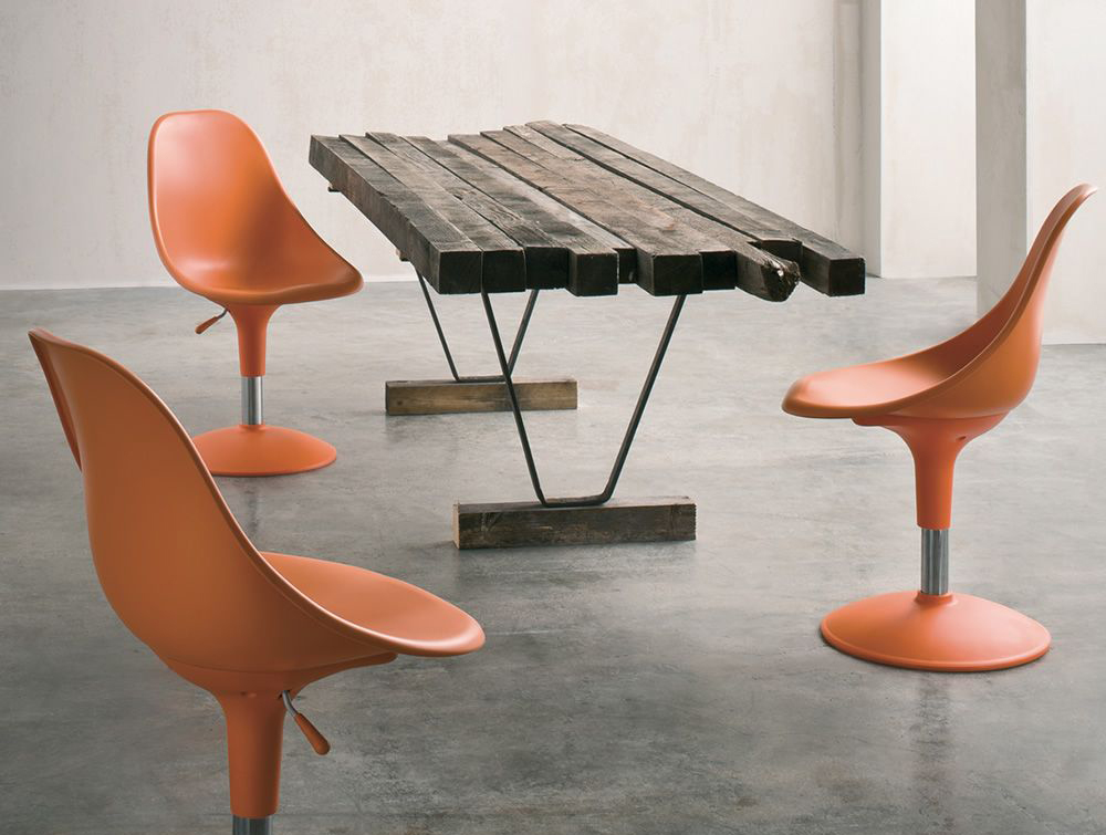 Gaber Harmony Beam Seating with Orange Frame and Finish