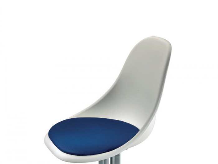 Gaber Harmony Beam Seating with White Finish and Blue Cushion