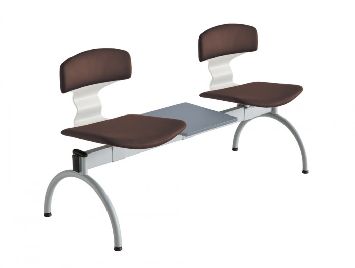 Gaber Tolo Beam Seating with Brown Upholstered Finish