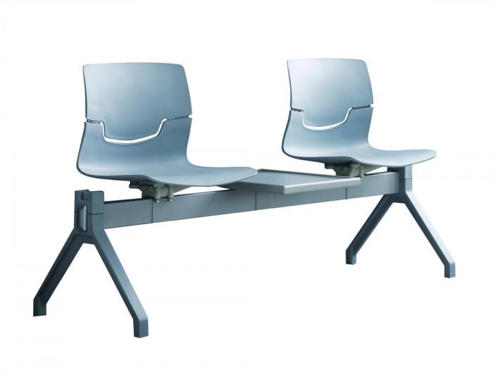 Gaber Slot Beam Seating with Grey Frame
