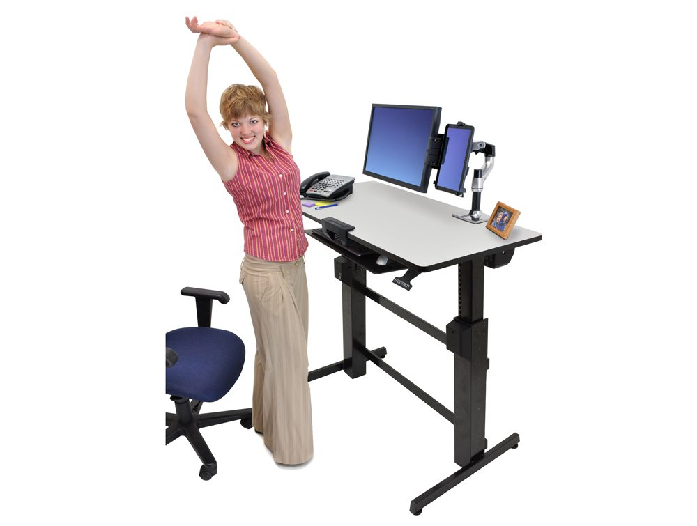 Ergotron WorkFit D Sit Stand Desktop Workstation