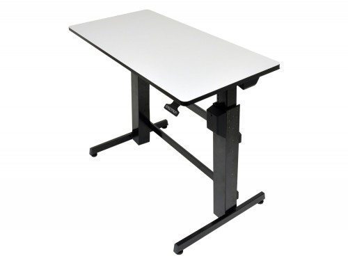 Ergotron WorkFit D Sit Stand Desktop Workstation in grey