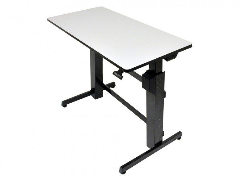 Ergotron WorkFit D Sit Stand Desktop Workstation in grey