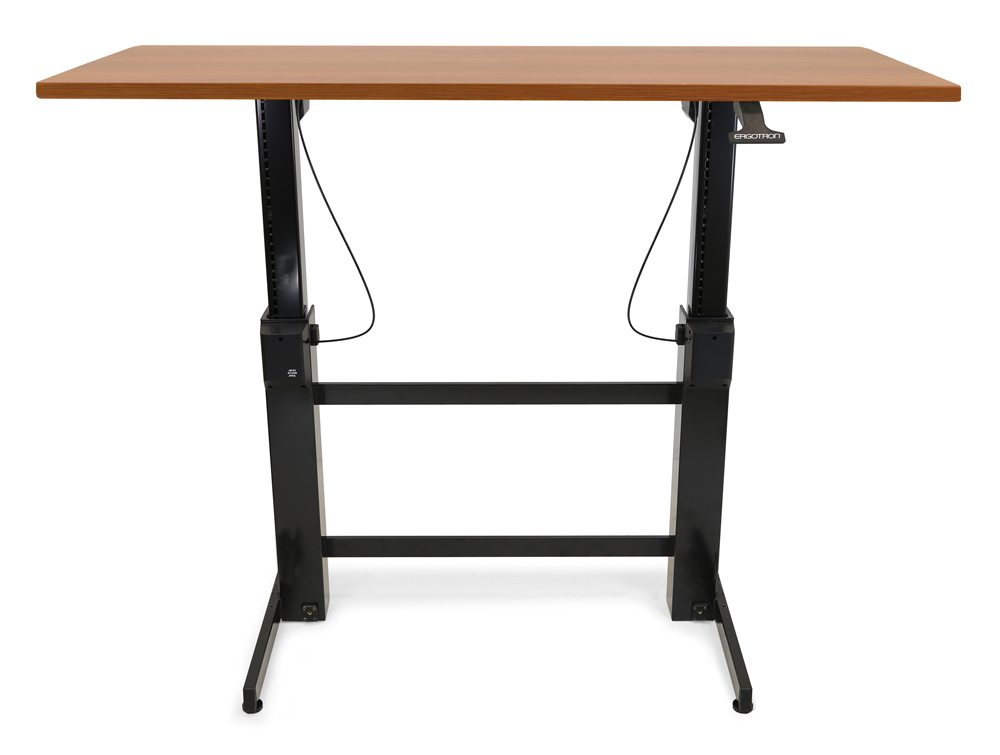 Ergotron WorkFit B HD Sit Stand base adjusted for standing position