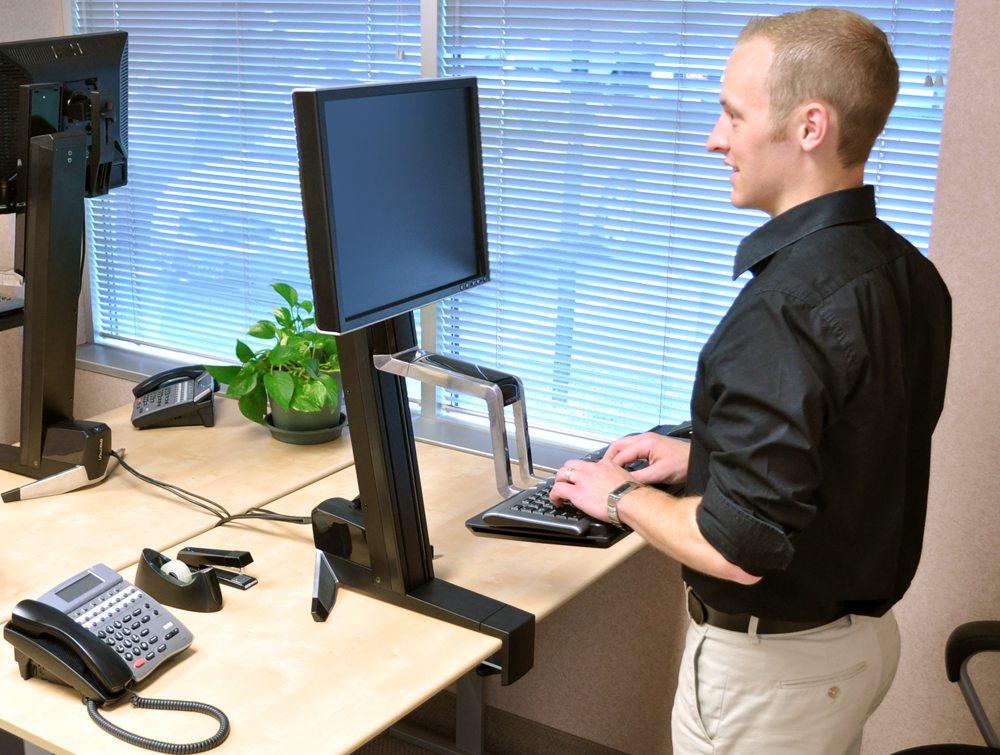 Ergotron WorkFit S Single LD Sit Stand Workstation