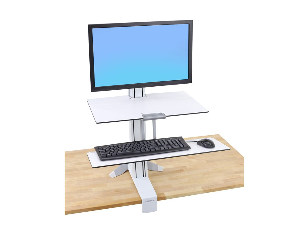 Ergotron WorkFit S single HD with worksurface