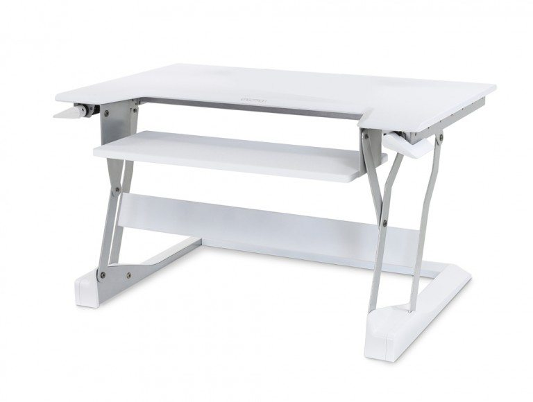 Ergotron WorkFit T Sit Stand Desktop Workstation in white